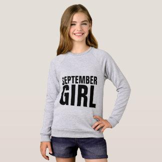 T-shirts d'anniversaire de FILLE de SEPTEMBRE