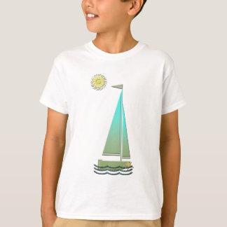 T-shirts d'art de bateau à voile