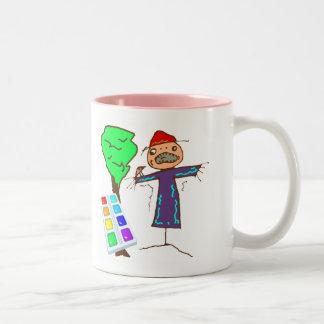 T-shirts d'art d'enfants et cadeaux d'enfants mug bicolore