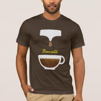 T-shirts de barman de café