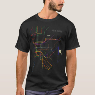 T-shirts de carte de souterrain de New York