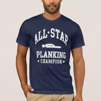 T-shirts de champion de Planking d'All Star
