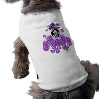 T-shirts de chienchien de Luau d'ananas T-shirt Pour Chien