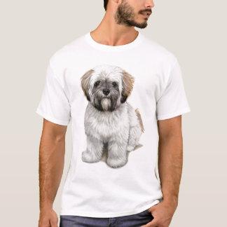T-shirts de chiot d'apso de Lhasa
