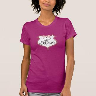 T-shirts de diadème d'insigne de jeune mariée