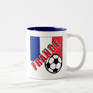 T-shirts de fan de foot du monde de la FRANCE Tasse 2 Couleurs