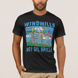 T-shirts de flaques d'huile de moulins à vent pas