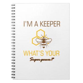 T-shirts de gardien d'abeille carnet