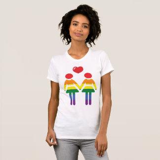 T-shirts de gay pride d'arc-en-ciel pour des
