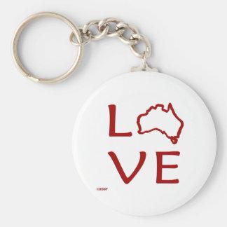 T-shirts de l'Australie et cadeaux, amour Australi Porte-clé