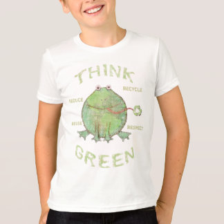T-shirts de l'environnement de jour de la terre