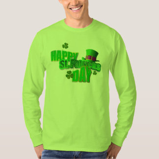 T-shirts de Longsleeve des hommes du jour de St