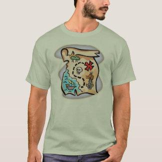 T-shirts de pirate de carte de trésor