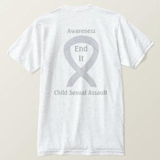 T-shirts de ruban de conscience d'agression