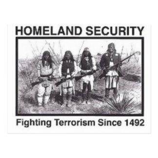 T-shirts de sécurité de patrie de Natif américain Carte Postale