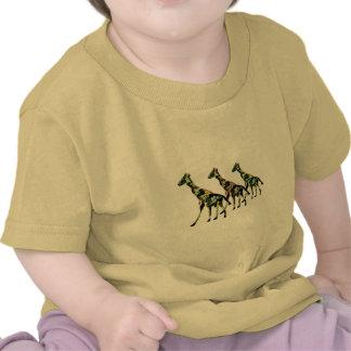 T-shirts de sortie de famille de girafe