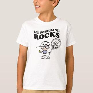 T-shirts de tennis pour des enfants avec dire