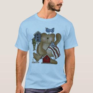 T-shirts d'ours de nounours 4 juillet