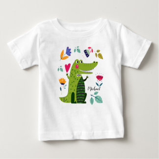 T-shirts drôle de bébé de cadeau de crocodile