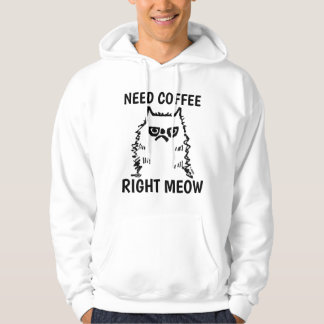 T-shirts drôle de chat de café, chat grincheux