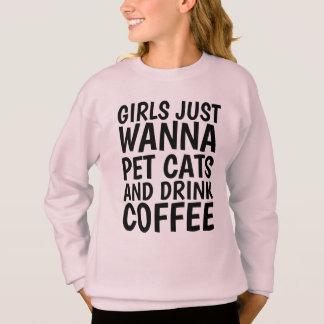 T-shirts drôle de chat pour les filles, le CAFÉ et