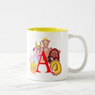 T-shirts et cadeaux animaux d'enfants mug bicolore