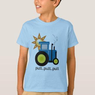 T-shirts et cadeaux bleus de tracteur de putt de