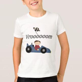 T-shirts et cadeaux bleus de voiture de course