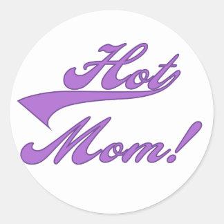 T-shirts et cadeaux chauds de maman adhésif