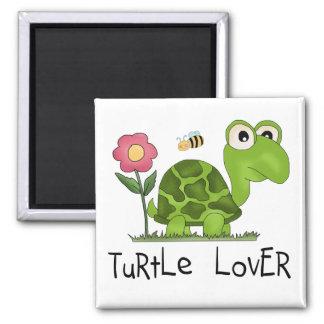 T-shirts et cadeaux d'amant de tortue magnet carré