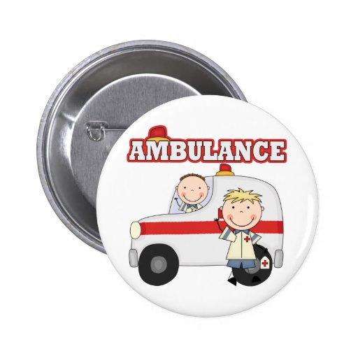 T-shirts et cadeaux d'ambulance badge avec épingle