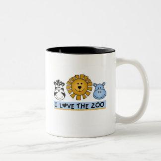 T-shirts et cadeaux d'amis de zoo mug bicolore