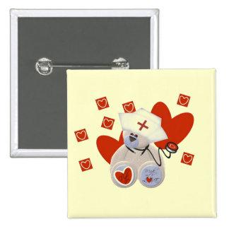 T-shirts et cadeaux d'amour d'infirmière d'ours de badges