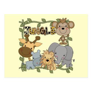 T-shirts et cadeaux d'animaux de jungle de bébé carte postale