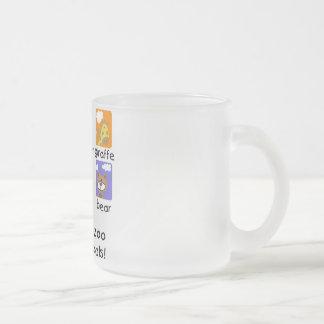 T-shirts et cadeaux d'animaux de zoo mug en verre givré