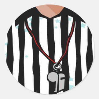 T-shirts et cadeaux d'arbitre sticker rond