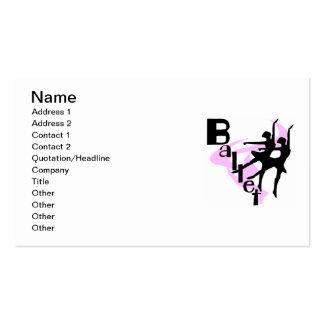 T-shirts et cadeaux de ballet de silhouette carte de visite standard