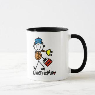 T-shirts et cadeaux de base d'électricien tasse