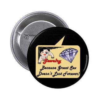 T-shirts et cadeaux de bijoux de diamant pour elle badge