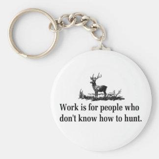 T-shirts et cadeaux de chasse porte-clé rond