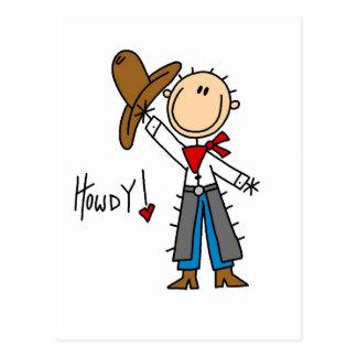 T-shirts et cadeaux de cowboy allo carte postale