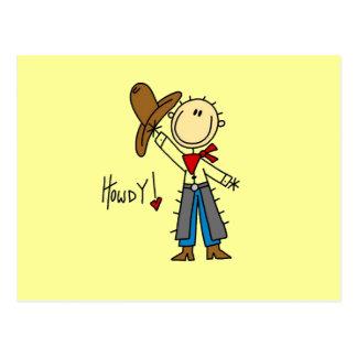 T-shirts et cadeaux de cowboy allo cartes postales