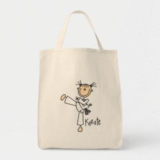 T-shirts et cadeaux de fille de karaté sac en toile épicerie