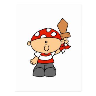 T-shirts et cadeaux de garçon de pirate carte postale