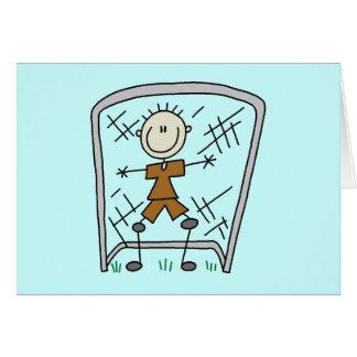 Gardien de but de hockey fente gorge