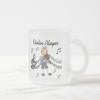 T-shirts et cadeaux de joueur de violon de fille mug en verre givré