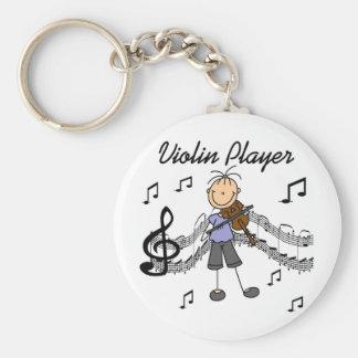T-shirts et cadeaux de joueur de violon de fille porte-clé rond