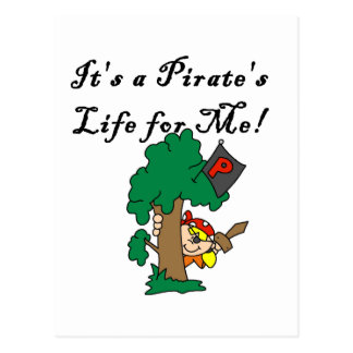 T-shirts et cadeaux de la vie du pirate carte postale
