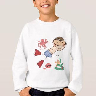 T-shirts et cadeaux de natation de garçon