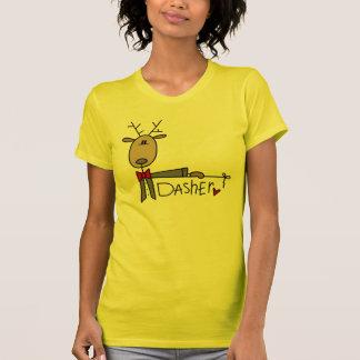 T-shirts et cadeaux de Noël de renne de Dasher
